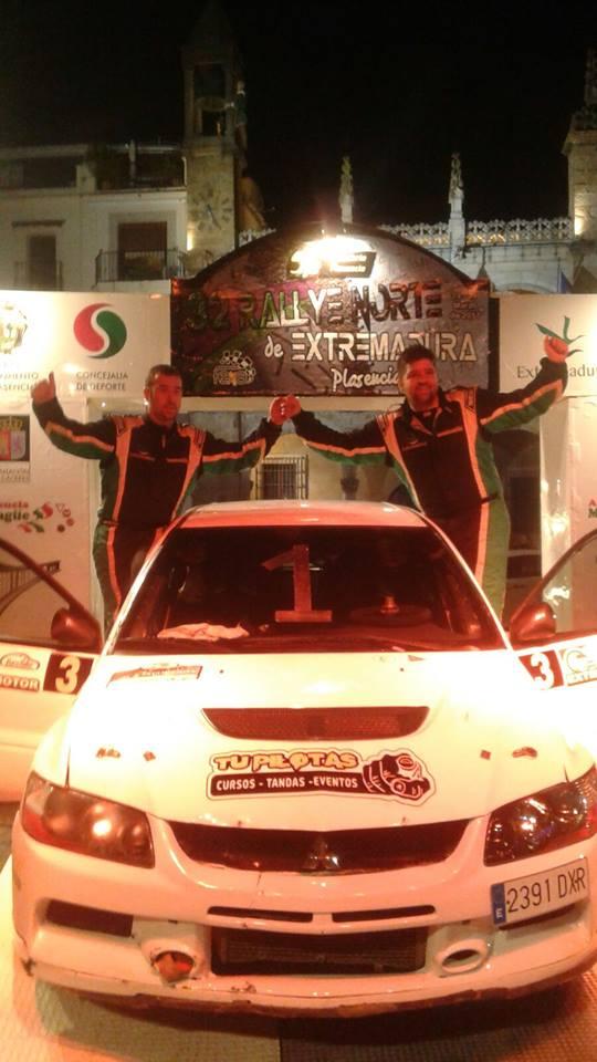 Quijada y Canelo se llevan el 32º Rallye Norte de Extremadura