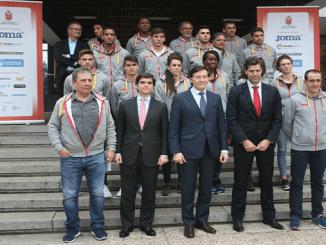 Sergio Paniagua en la concentración de la selección española absoluta rumbo a Belgrado