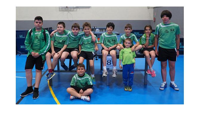 Los Benjamines del Tenis de Mesa de Almaraz arrasan en Calamonte