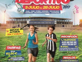 Cartel del Primer campus de verano de La Academia Club Deportivo Badajoz