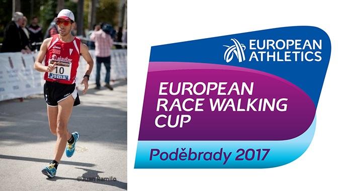 Iván Pajuelo en la Copa de Europa de Marcha en Podebrady