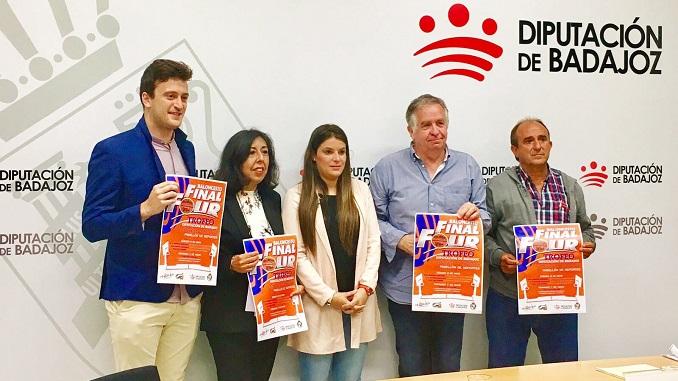 Presentación de las Finales Final Four del Trofeo Diputación de Badajoz de Baloncesto