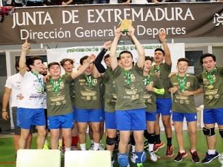 El equipo juvenil del A.D. Cáceres Campeón de Extremadura