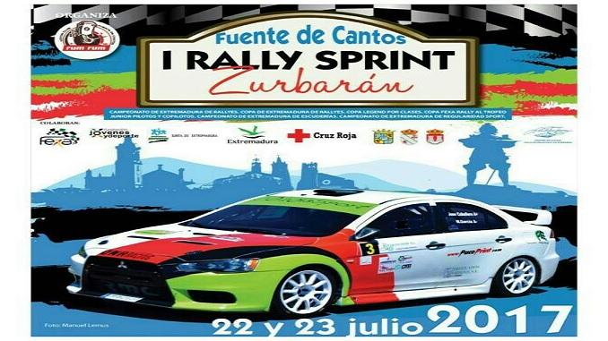 Ainoa de la Osa y Mari Márquez en el I Rallysprint Zurbarán