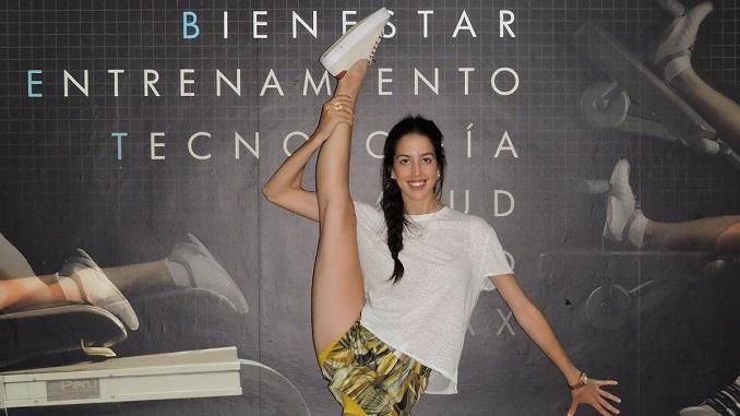Alejandra Quereda, capitana de la Selección Española de Gimnasia Rítmica en el Stage de Tecnificación de El Perú Cáceres Wellness