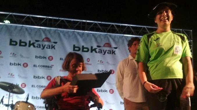 Elena Ayuso del Club Piragüismo Badajoz logra la victoria en la BBKayak