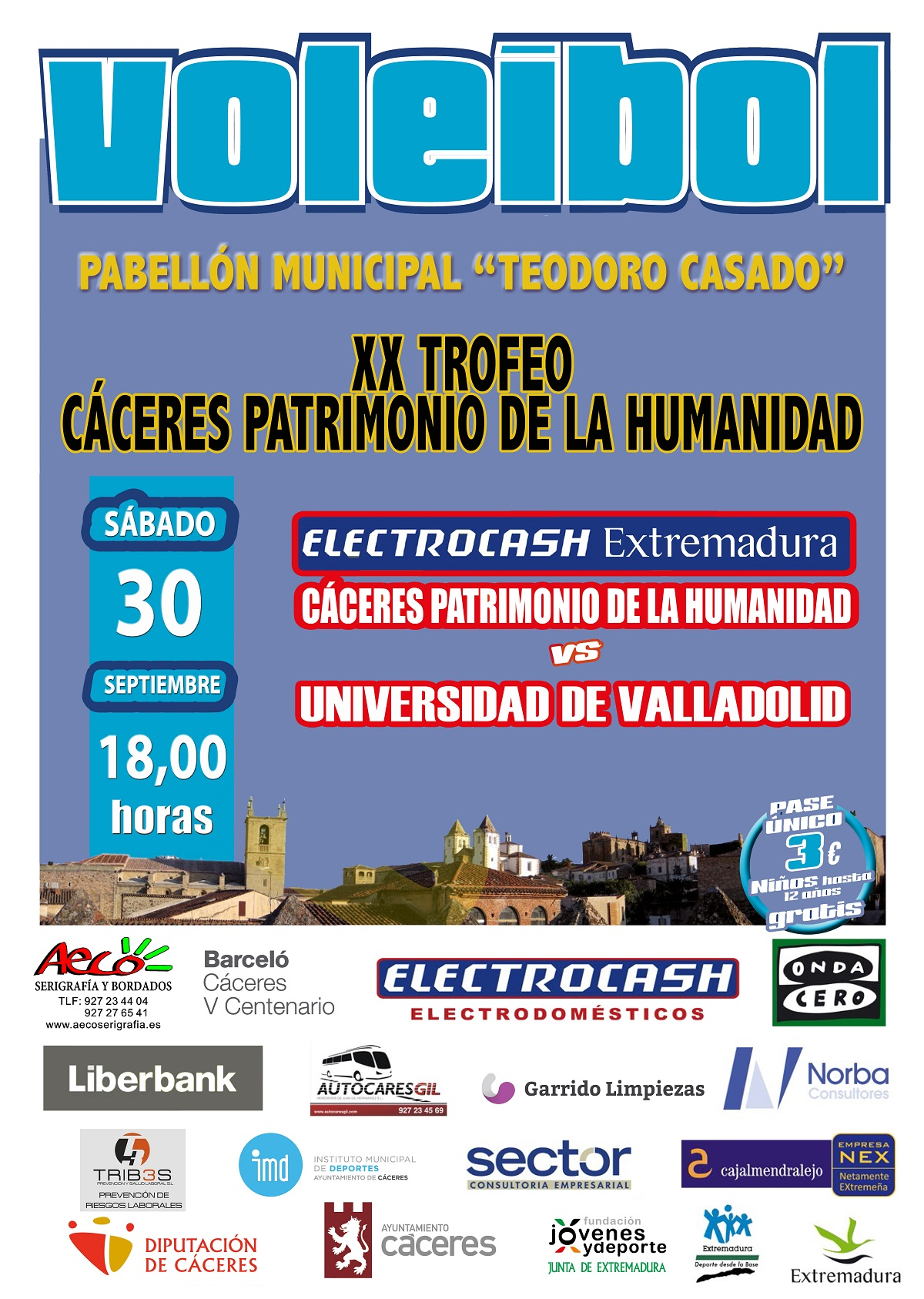 Presentación Electrocash Extreadura y Trofeo Cáceres Patrimonio de la Humanidad