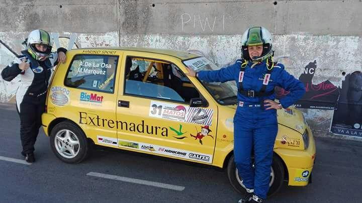 Al habla con la copiloto fuentecanteña Mari Márquez