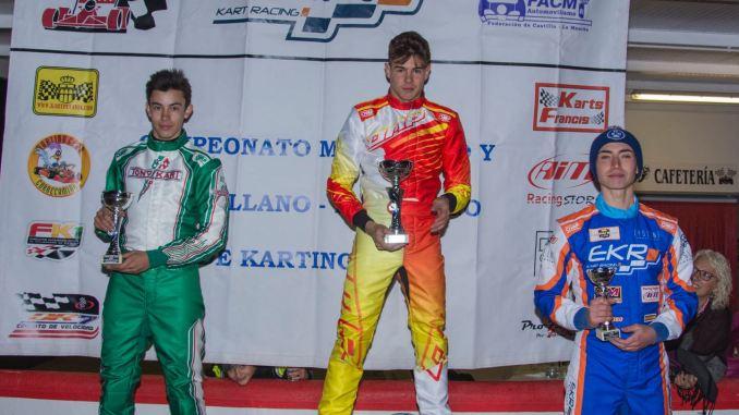 Miguel Grande subcampeón del Campeonato madrileño y castellano-manchego de Karting