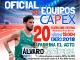 El Capex se presenta este sábado con Álvaro Martín Uriol (Atleta Olímpico), como padrino