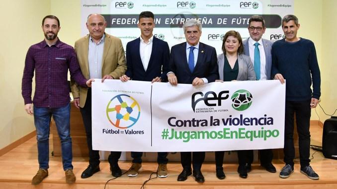 La Federación Extremeña de Fútbol presentó la Campaña Integral Antiviolencia