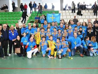 Asturias, Campeona de España Benjamín Fútbol Sala en Montijo