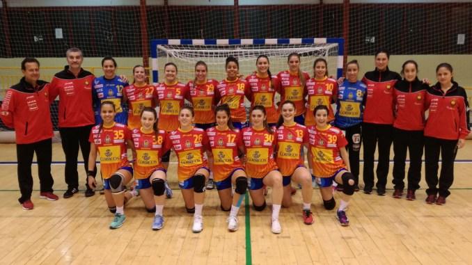 Concentración de la Selección Española Femenina Júnior de Balonmano en Alburquerque