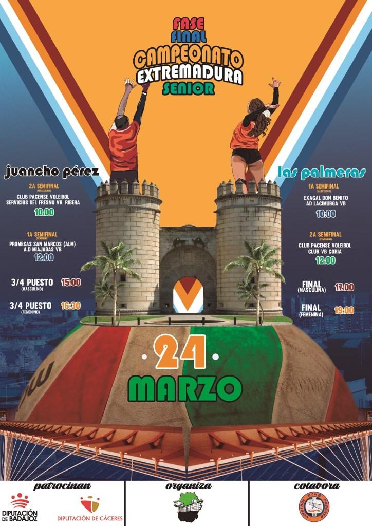 Fiesta del voleibol en Badajoz.Las fases finales se disputan paralelamente en dos pabellones
