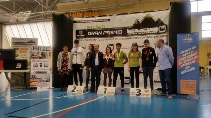 Podium de David Gil en la categoria Cadete en la Copa de España de Carreras por Montaña