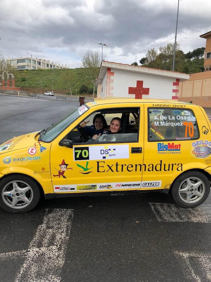 Ainoa y Mari Márquez - El Extremadura Rallye Team de notable en el Rallye Norte de Extremadura