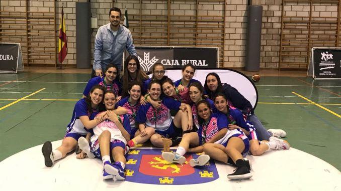 Junior Femenino Miralvalle Campeón - San Antonio Cáceres Basket y Carnes Pizarro Miralvalle, Campeones Junior de Baloncesto