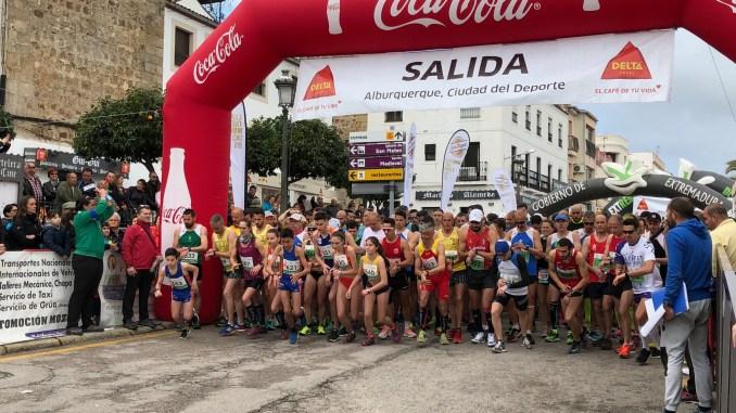 RICARDO GONÇALVES Y RAQUEL CABAÇO ganan la XIII Media Maratón de Alburquerque