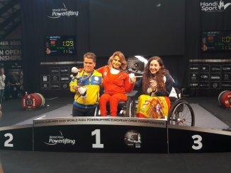 Doblete de Bronce de Loida Zabala en el Campeonato de Europa de Para Powerlifting