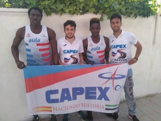 El Capex se afianza en el liderato de la Liga Regional de Pista