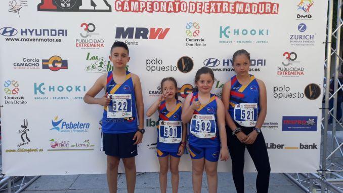 El Club Atletismo Don Benito participo en el Campeonato de Extremadura en Ruta 10K