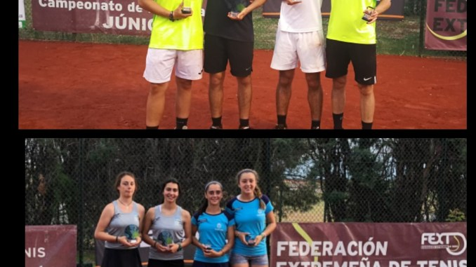 El Club de Tenis Cabezarrubia acogió el Campeonato de Extremadura de Tenis Junior de Dobles