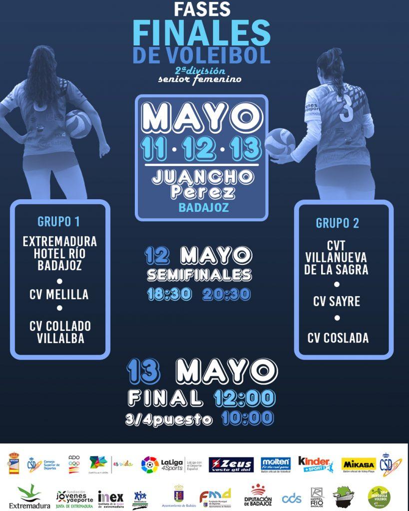 Fases Finales Nacionales de la 2ª división Senior Femenino en Badajoz