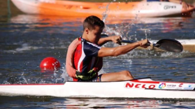 Jesús Serrano Moreno Campeón de España Cadete de Piragüismo en K1B 5000 metros