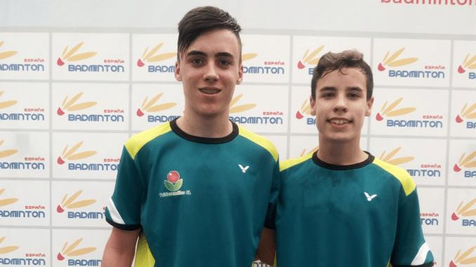 Manuel Calero y Carlos Muñoz jugaran la semifinales del Campeonato de España Sub17 de Bádminton