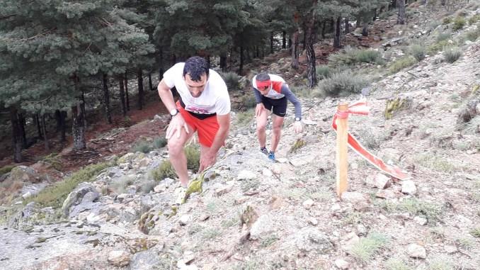 Miguel Heras y Javier González - carrera por montaña