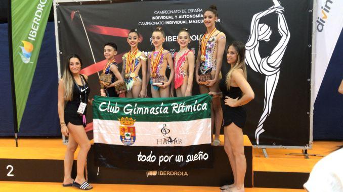 Cosecha de medallas del los gimnastas del Club HADAR en los Campeonatos de España 2018 de Guadalajara