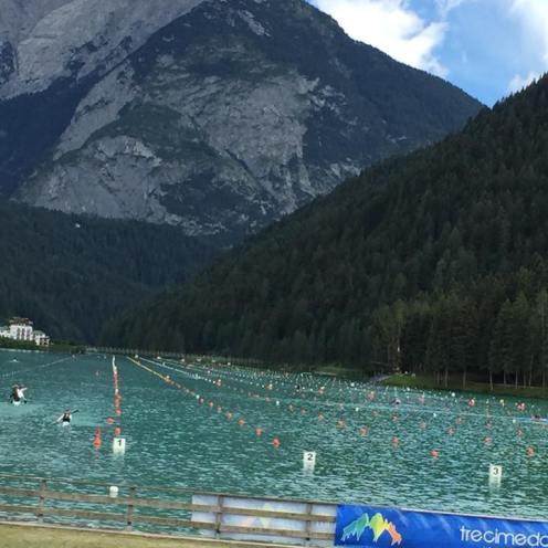 El equipo de la Selección Española de Piragüismo Sub23 K4 500m pasan a la final del C1 (1)