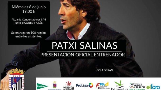 Presentación oficial, Patxi Salinas nuevo entrenador del Badajoz