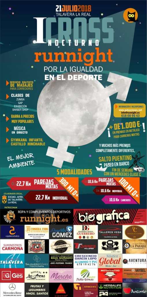 """I Cross Nocturno por la Igualdad en el Deporte """"Talavera la Real"""""""