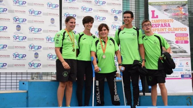 19 Medallas para el para el Piragüismo Extremeño en el Campeonato de España de Sprint Olímpico