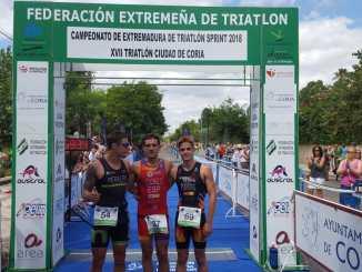 Guillermo Cuchillo y Marta Reguero campeones de Extremadura de Triatlón Sprint