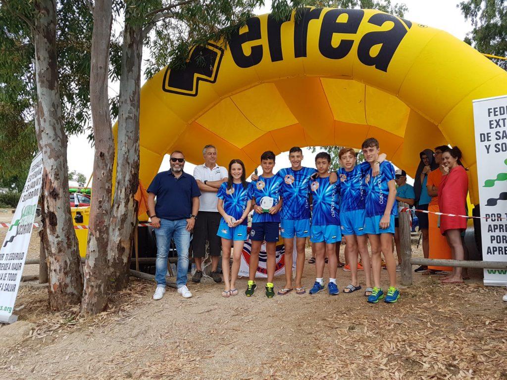 Excelentes resultados del Club Salvamento y Socorrismo Don Benito I Open Rescate de Aguas Abiertas en el pantano de Proserpina