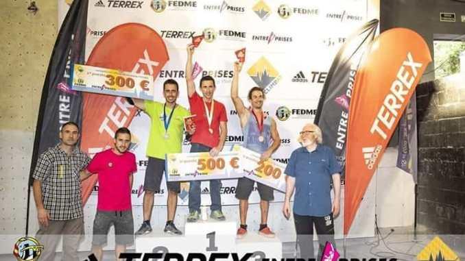 Podium extremeño en la segunda prueba de la Copa de España de Escalada deportiva 2018