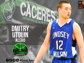 Dmitry Utolin, nuevo fichaje del Cáceres Patrimonio de la Humanidad