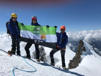 Javier García Pajares hace cumbre en siete picos de +4.000MTS en los Alpes