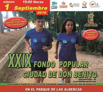 El Club Atletismo Tiendas Pavo Don Benito participará en el XXIX Fondo Popular Ciudad de Don Benito