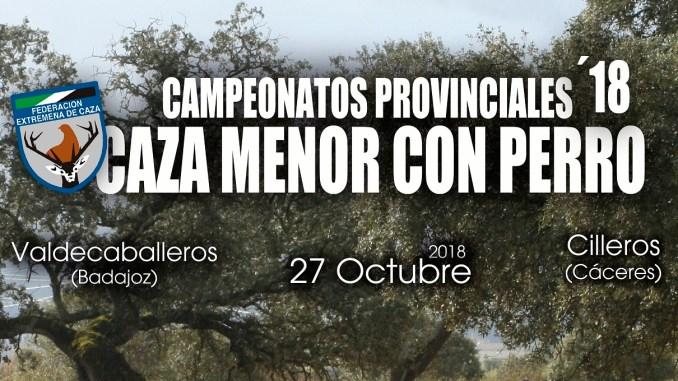 Valdecaballeros y Cilleros serán sede en octubre de los Campeonatos Provinciales de Caza Menor con Perro