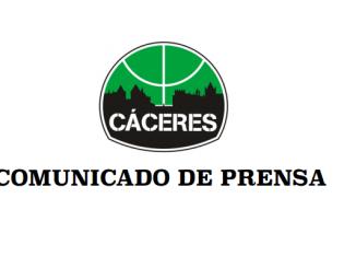 Comunicado de Prensa Caceres Basket