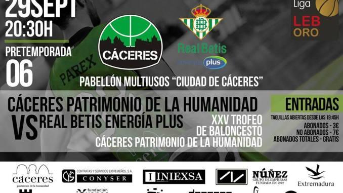 El Cáceres Basket presenta el XXV Trofeo Baloncesto Cáceres Patrimonio de la Humanidad