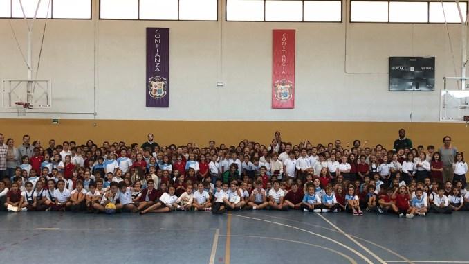 Comienzan las visitan escolares de los jugadores del Cáceres