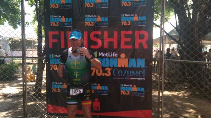 Gran esfuerzo y excelente experiencia vivida por Toni Franco en el Ironman 70.3 de Cozumel 2018