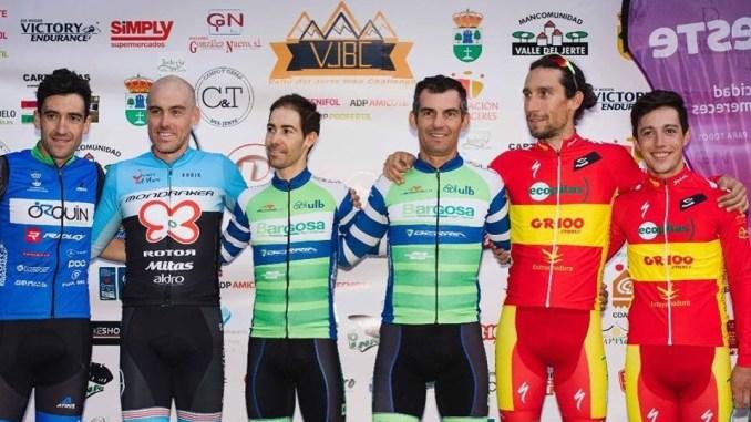La pareja del Extremadura-Ecopilas formada por Romero-Cordero finalizan en terceros en la Picota Bike