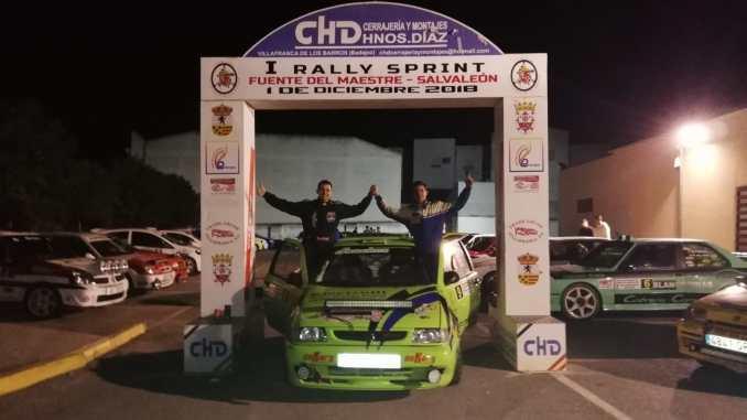 Antonio Sánchez y José Ignacio García vencedores del Rallysprint Fuente del Maestre-Salvaleón