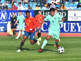 Un gol en el descuento da el triunfo a la Selección Española Sub-18 en el segundo duelo ibérico frente a Portugal.