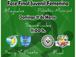 Fase Final Juvenil Femenina de Extremadura en Miajadas